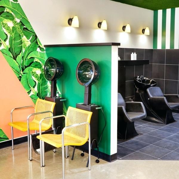How can salons use statement lighting to make a big impact?