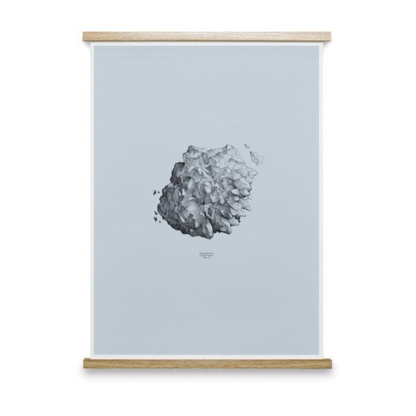 Hailstone Everest Light Blue Art Print