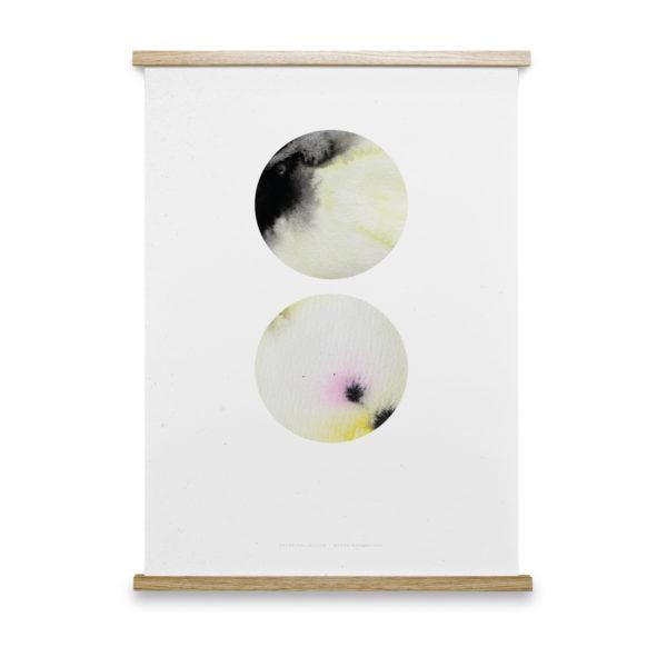 Twin Circles Art Print