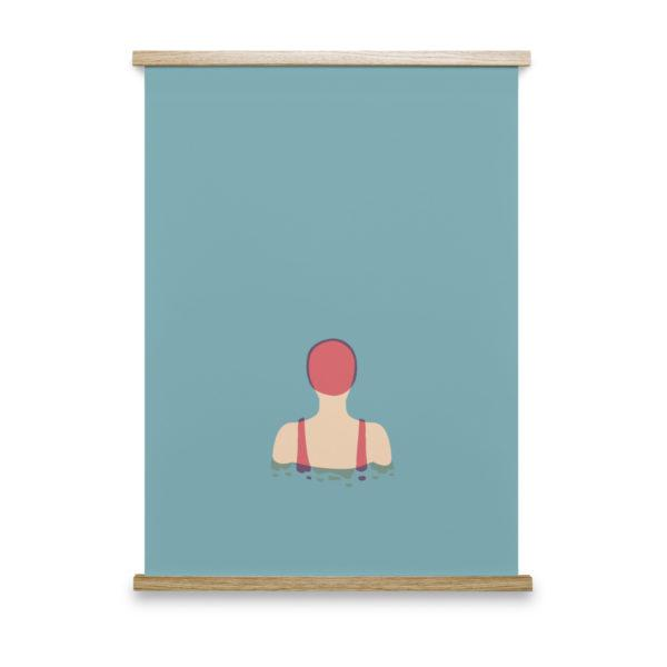 The Swimmer No1 Art Print
