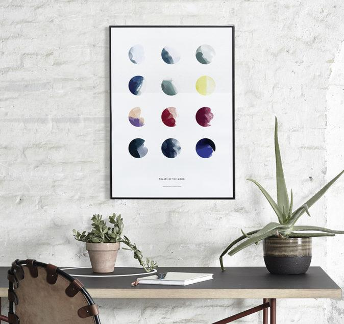 Moon Phases Art Print