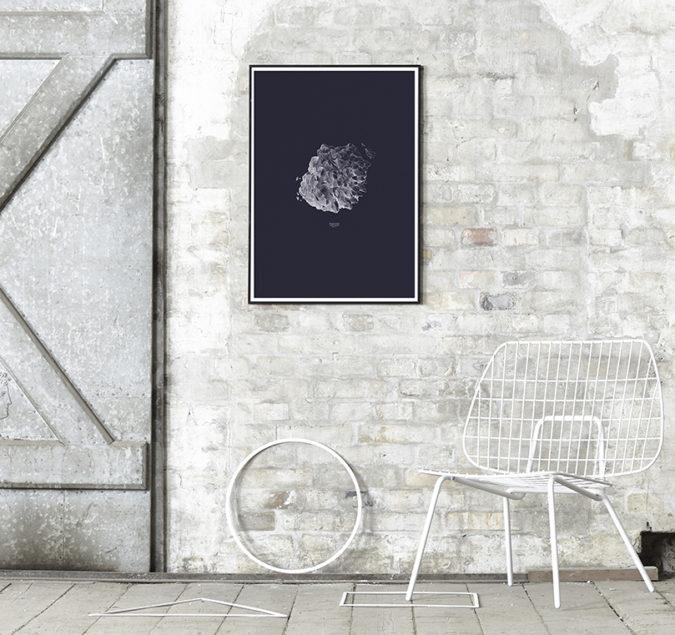 Hailstone Everest Dark Blue Art Print