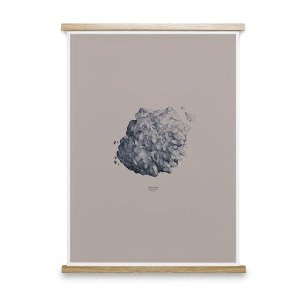 Hailstone Everest Grey Art Print
