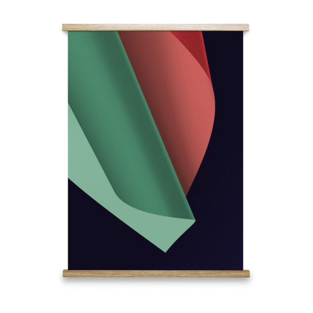 Colour Fold No 1 Art Print