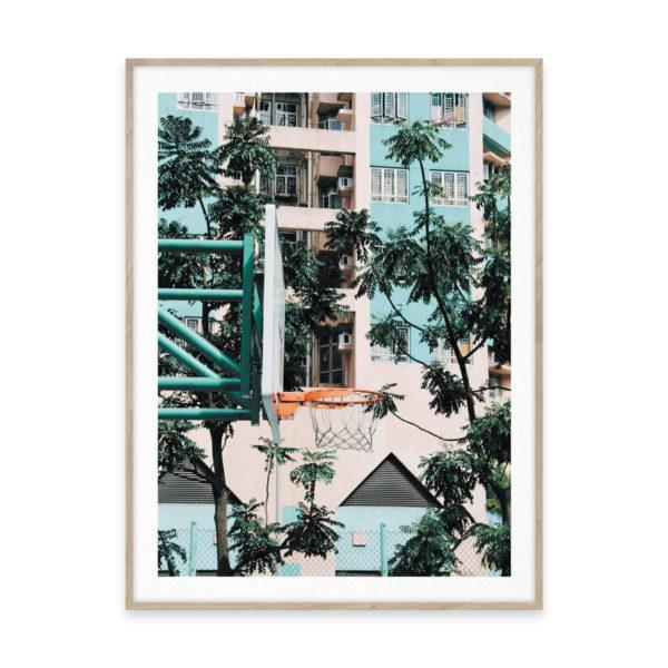 Cities of Basketball 01 Hong Kong Art Print
