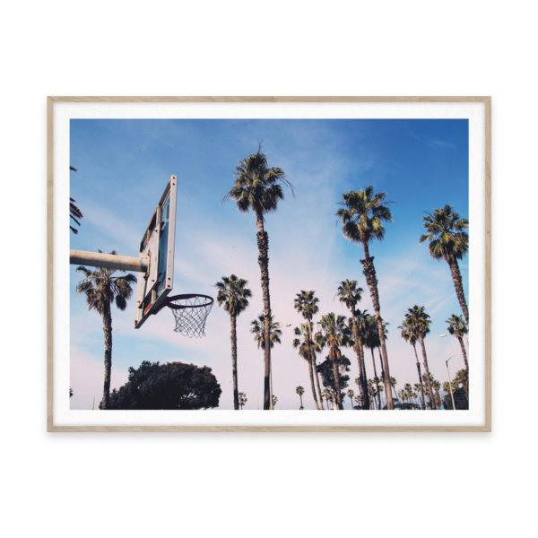 Cities of Basketball 02 LA Art Print