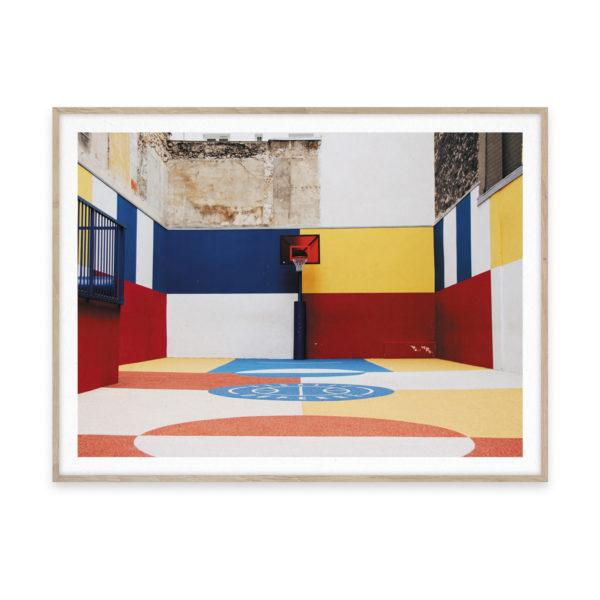 Cities of Basketball 03 Paris Art Print