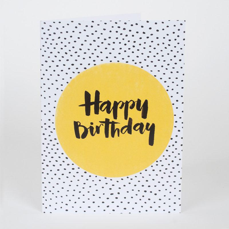 Black Spots Happy Birthday Card