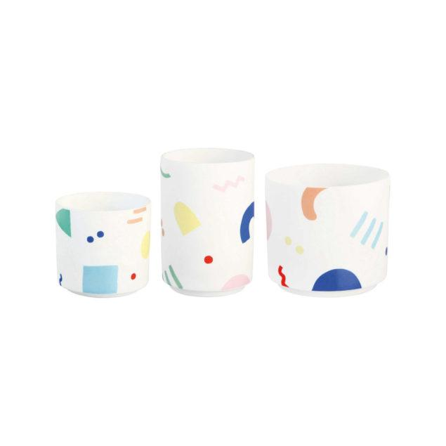 Tall Painted Graphic Tealight Holder