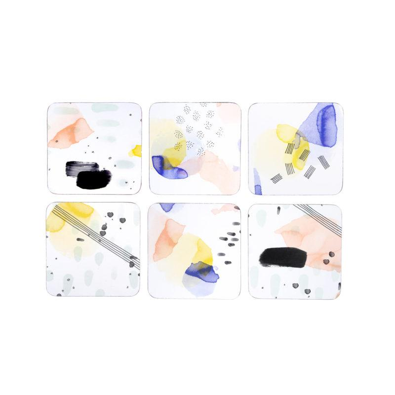 Set of 6 Watercolour Coasters
