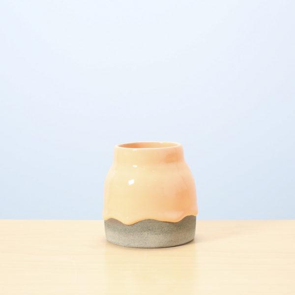 Creamsicle/Avocado Glazed Ceramic Drip Pot