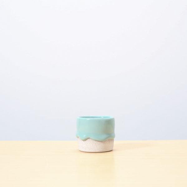 Lagoon/Ash Glazed Ceramic Drip Pot