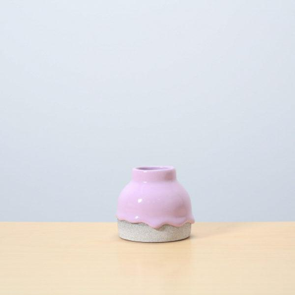 Lavendar/Ash Glazed Ceramic Drip Pot