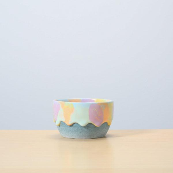 Sherbet/Denim Glazed Ceramic Drip Pot