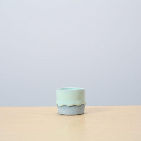 Mint/Denim Glazed Ceramic Drip Pot