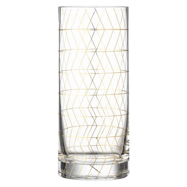 Clear Geometric Pattern Drinking Glass