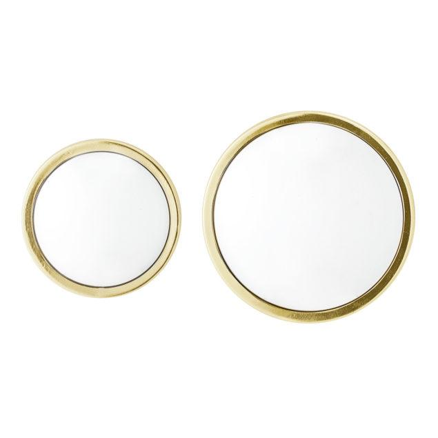 Gold Wall Mirrors, set of 2