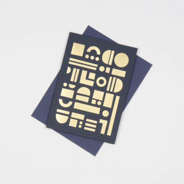 Artefact Card Brass & Navy