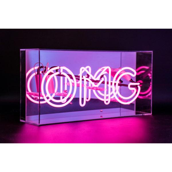 'OMG' Acrylic Neon Light Box