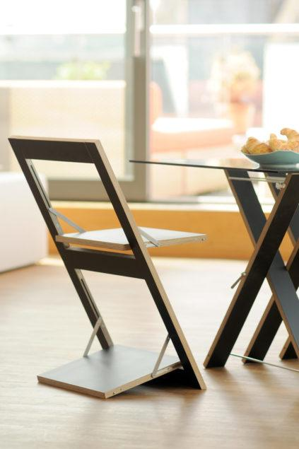 Fläpps Folding Chair – Birch Clear