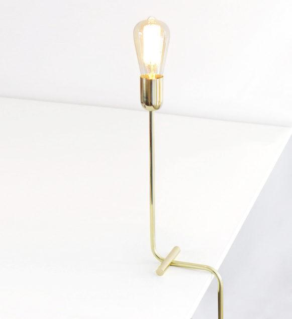 Modern Solid Brass Balance Table Lamp
