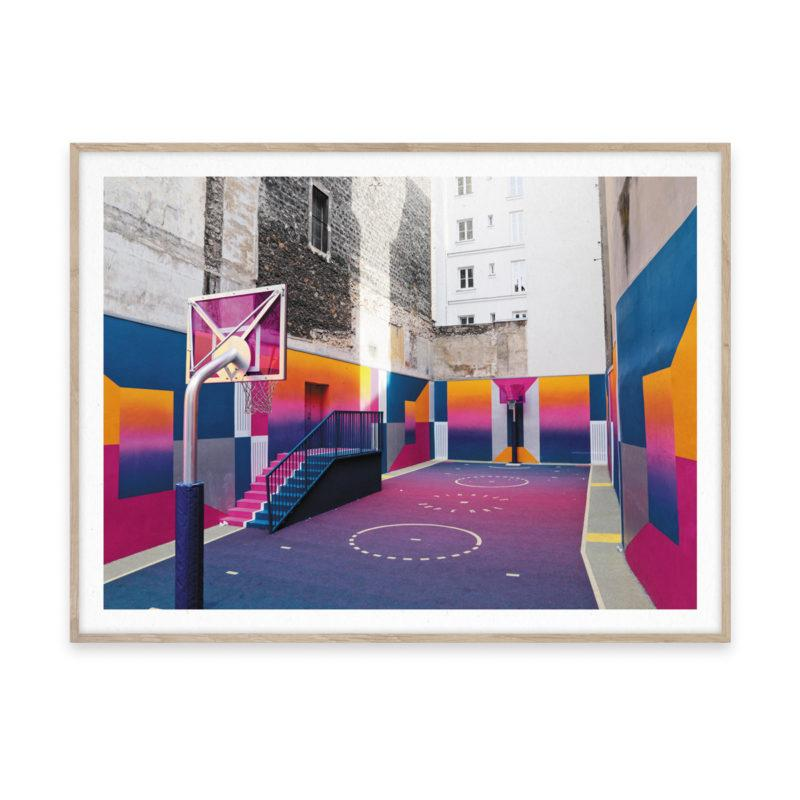 Cities of Basketball 08 Paris Art Print