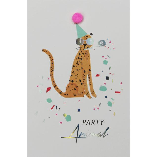 Just Peachy Cheetah Birthday Card