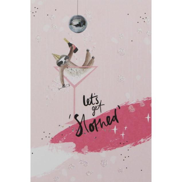 Just Peachy Sloth Birthday Card