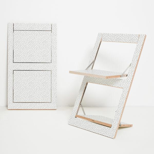 Fläpps Folding Chair – Watercolour Dots
