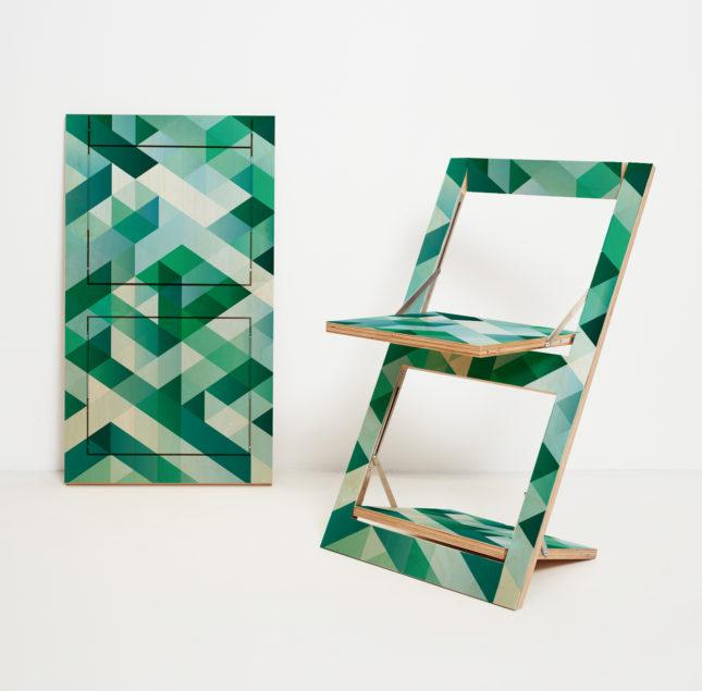 Fläpps Folding Chair – Criss Cross Green