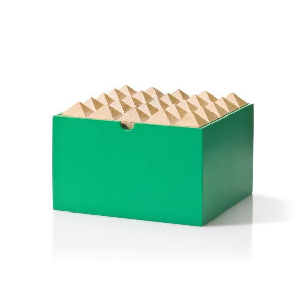 Green Medium Pyramid Trinket Box