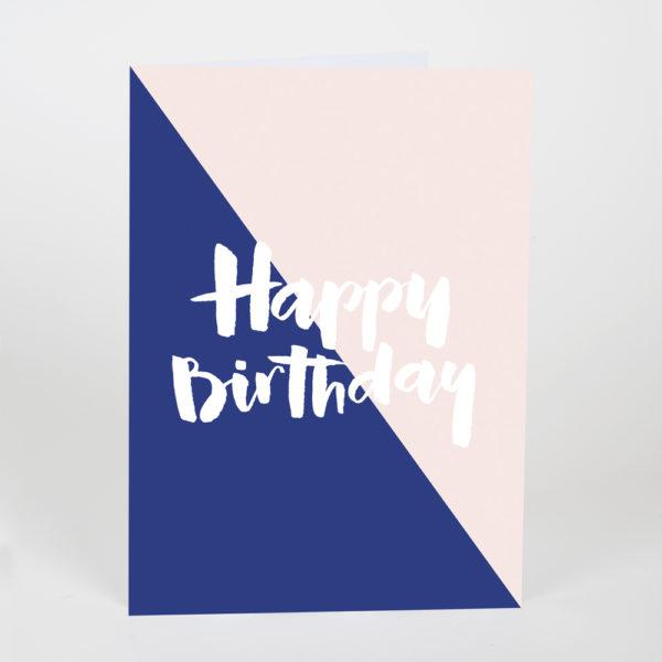 Happy Birthday Nude & Blue Card
