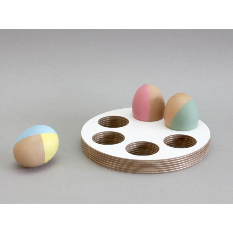Round White Birch Plywood Egg Tray