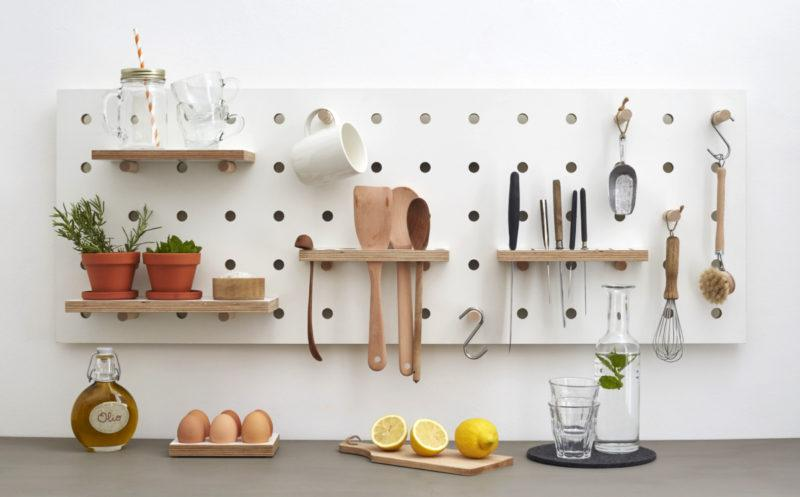 Chef's Edition Horizontal Pegboard in White