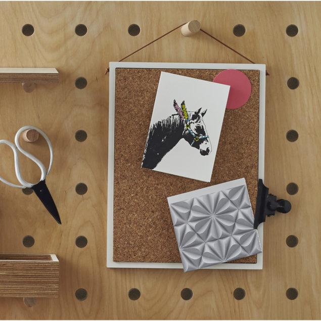 Birch Plywood A4 Pin Board with Leather String