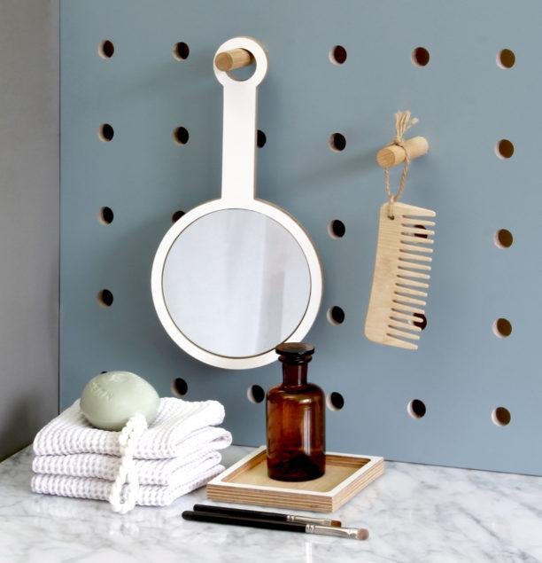 Birch Plywood Handheld Mirror