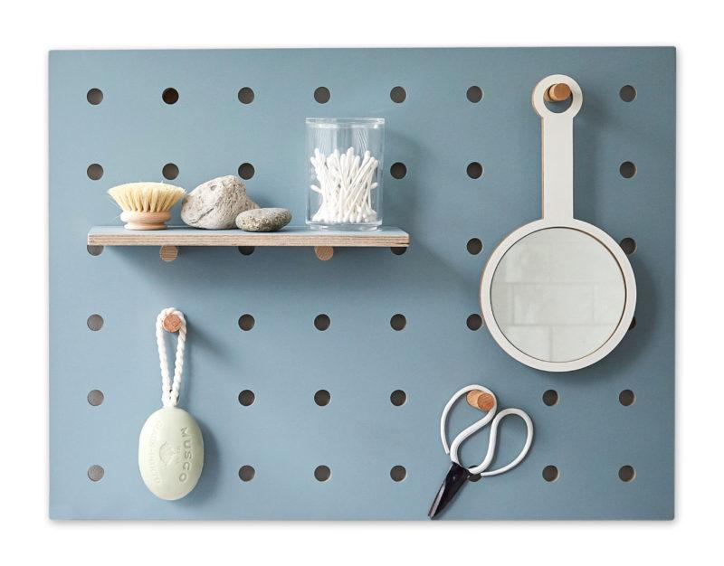Peg-it-all Little Pegboard - Blue with Shelf & Pegs