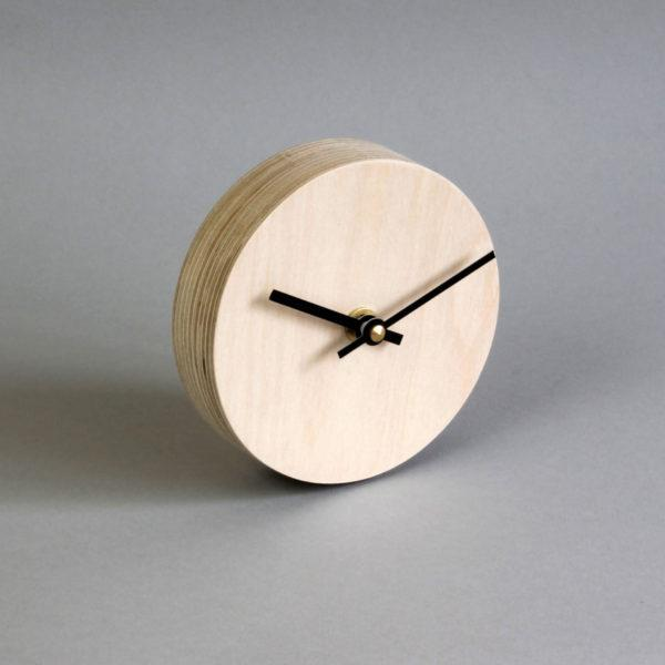 Birch Plywood Desk Clock