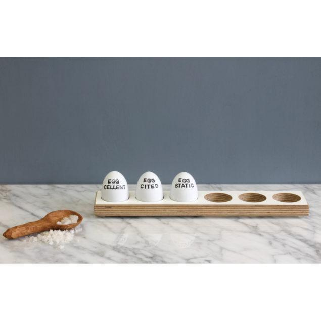 Long White Birch Plywood Egg Tray