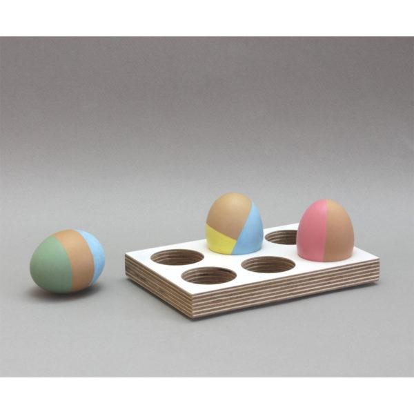 Rectangular White Birch Plywood Egg Tray
