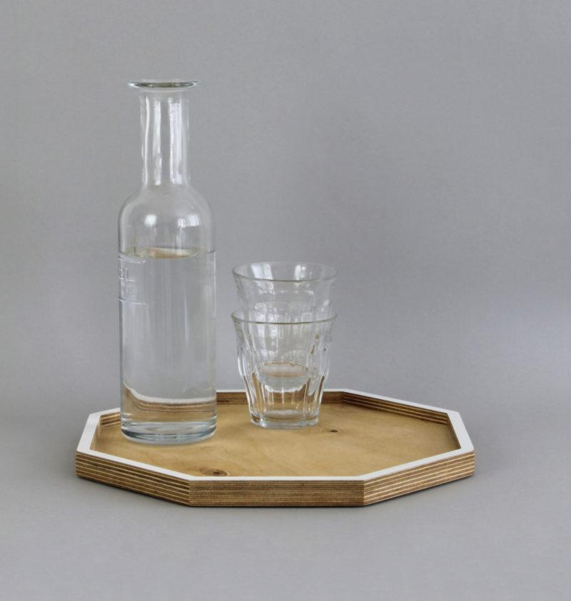 Birch Plywood Octagonal Serving Tray