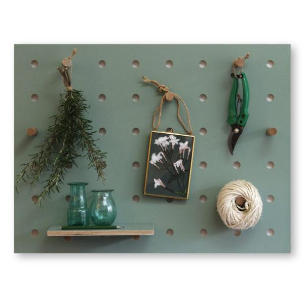 Peg-it-all Little Pegboard - Green with Shelf & Pegs