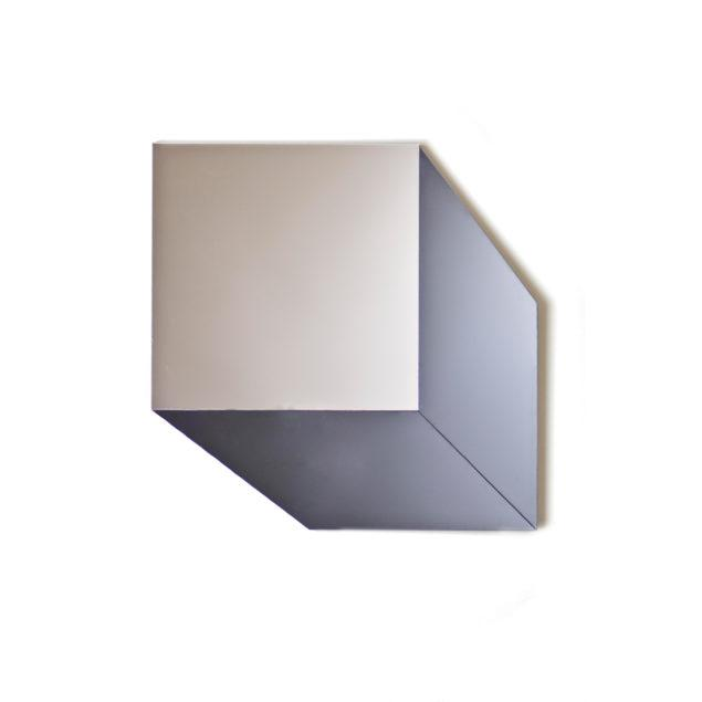 Grey & Silver Geometric Cube Mirror
