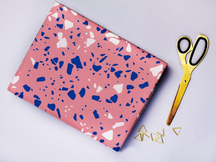 Pink Terrazzo Wrapping Paper