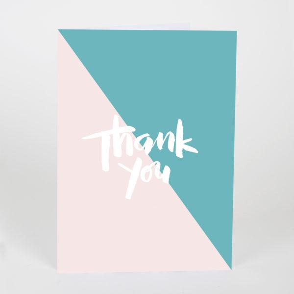 Thank You Nude & Turquoise Card