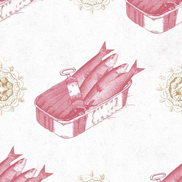 Sardines Red Wallpaper