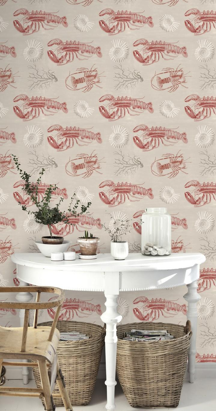 Lobster Taupe Wallpaper