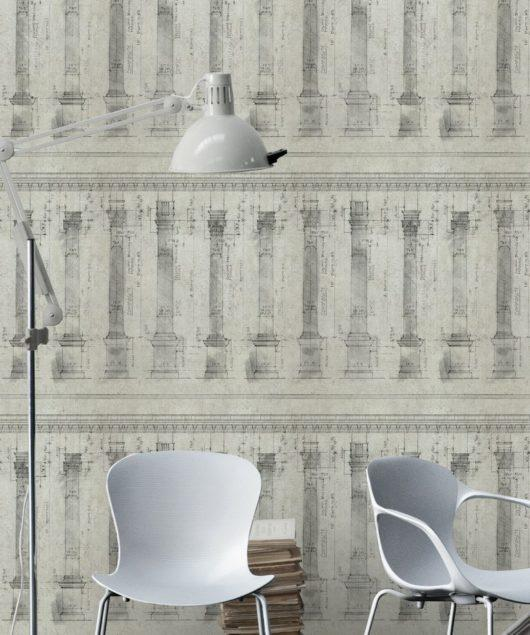 Colonnade Sand Wallpaper