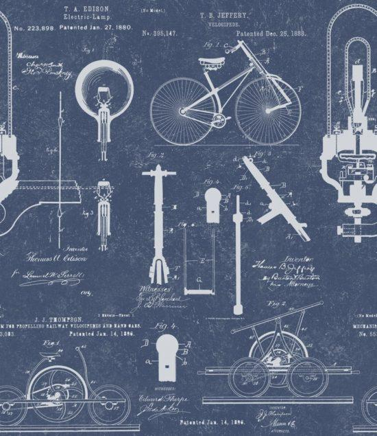 Patents Blue Wallpaper