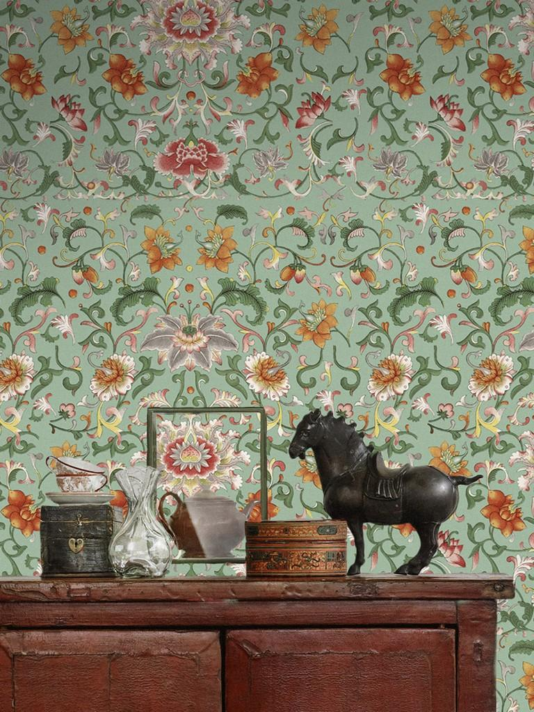 Chinese Floral Wallpaper From The Gifted Few